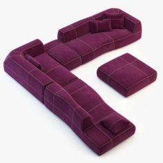 BB Italia Bend-Sofa 3D Model