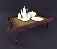 3D China mini tea table 3D Model