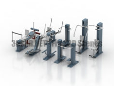 ROMANA Street Gym Set sport equipments 3D Collection