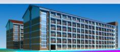 School building 128 3D Model