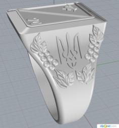 Ring Ukraine 3D Model