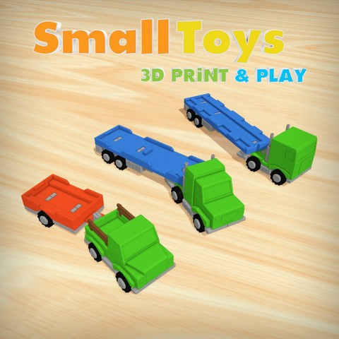 SmallToys – Trucks and trailers pack 3D Print Model