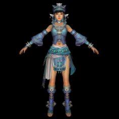 Fantasy Beauty Girl 3D Model