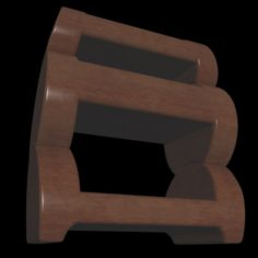 Wooden Bedside Table 3D Model
