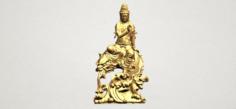 Avalokitesvara Bodhisattva – with fish 3D Model