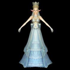 Beautiful Fairy Queen 3D Model
