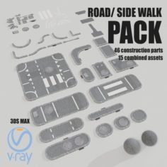Road Asset Pack collection 3D Model