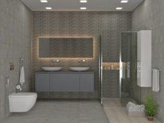 Guest Bathroom 3D Model