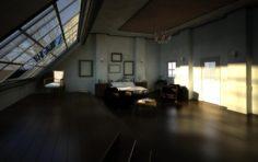 Bedroom 01 scene 3D Model