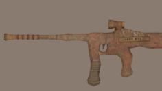 Unique Gun Low-poly 3D Model