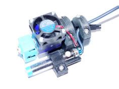 Rock-solid E3D V6 mount for CR-10 with 12mm ABL sensor support 3D Print Model
