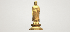 Gautama Buddha Standing 03 3D Model