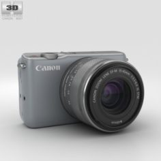 Canon EOS M10 Gray 3D Model