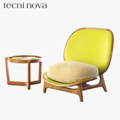 Armchair Outdoor yellow Tecni Nova 3D Model