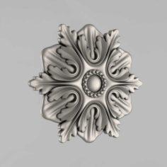 Carved rosettes decor 13 3D Model