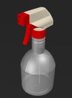 Plastic Sprayer Bottle 3D Model