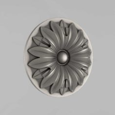 Carved rosettes decor 9 3D Model