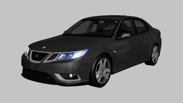 2008 Saab 9-3 3D Model