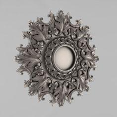 Carved rosettes decor 56 3D Model