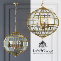 Chandelier Lantern Luna brass L                                      3D Model