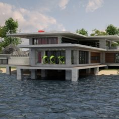 Villa 03 Lakeside V2 HD 3D Model