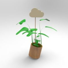 Small Cloud / Water your plants 3D Print Model