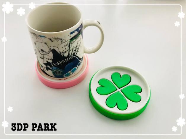 Lucky Clover Soap Box and Coaster 3D Print Model - 3DHunt co