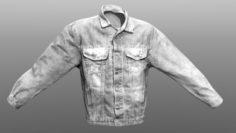 Jeans Jacket Closed 3D Model