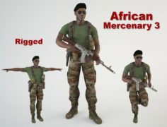 African Mercenary 3 3D Model