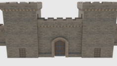 Castle Walls Towers and Gates 3D Model