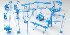 Cranes – 17 pieces 3D Model