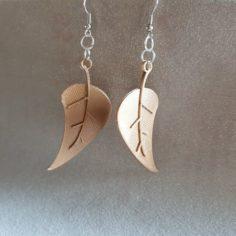 earring leaves 3D Print Model
