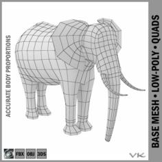 African Bush Elephant Male Animal 3D Model