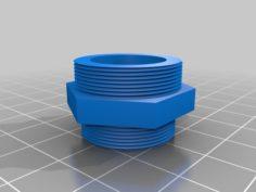 M24 to M22 UK tap adaptor 3D Print Model