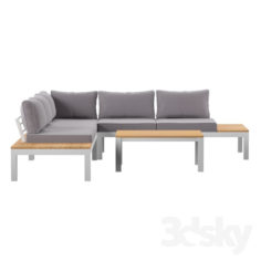 Schneider 4 Piece Sectional Set with Cushion                                      Free 3D Model
