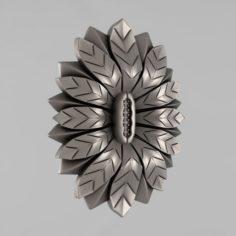 Carved rosettes decor 63 3D Model
