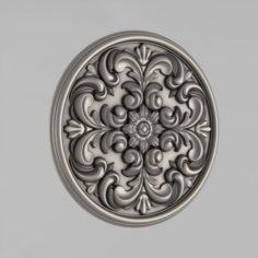 Carved rosettes decor 51 3D Model