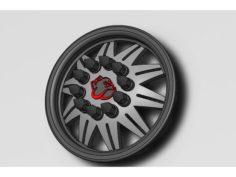 Spike Lugnut Semi Wheel 3D Print Model
