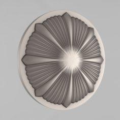 Carved rosettes decor 65 3D Model