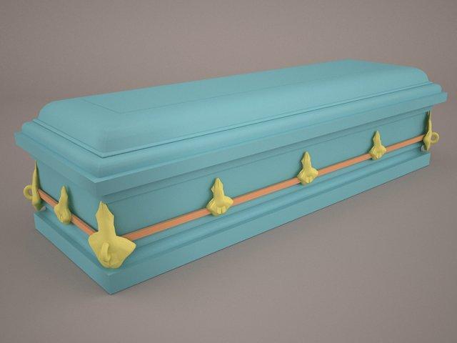 High Def Classic Coffin Roman Wood 2 3D Model