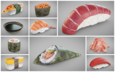 Sushi Collection 3D Model