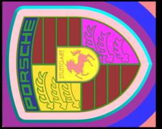 Logo Porsche 3D Model