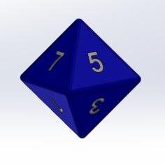 8-sided die 3D Print Model