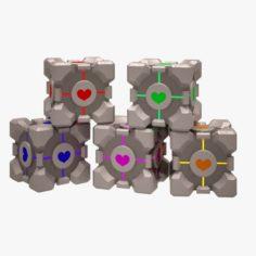 Portal Cube 01 3D Model