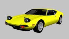 1971 De Tomaso Pantera 3D Model