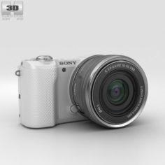 Sony Alpha A5000 White 3D Model