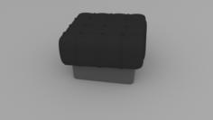 Padded stool 3D Model