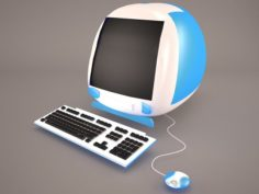 IMac With USB Keyboard and Mouse 3D Model