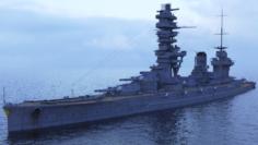 Battleship Fuso 3D Model