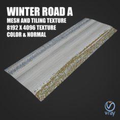 Winter road A Tile 3D Model